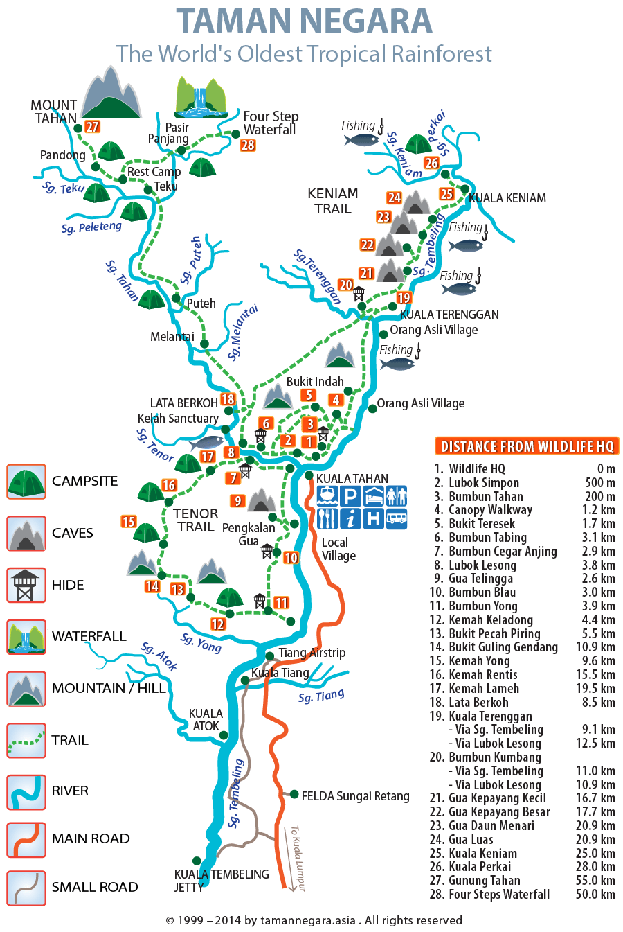 carte taman negara malaisie