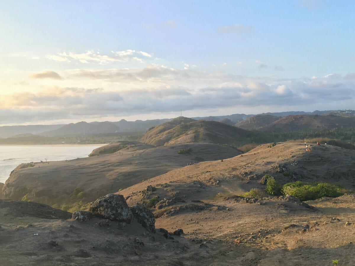 ile de lombok mere hill sunset