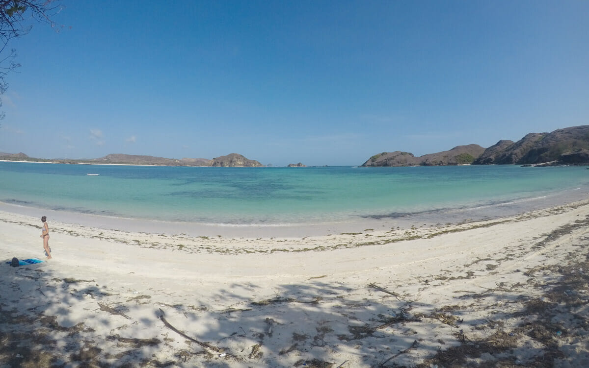 ile lombok tanjung aan beach_