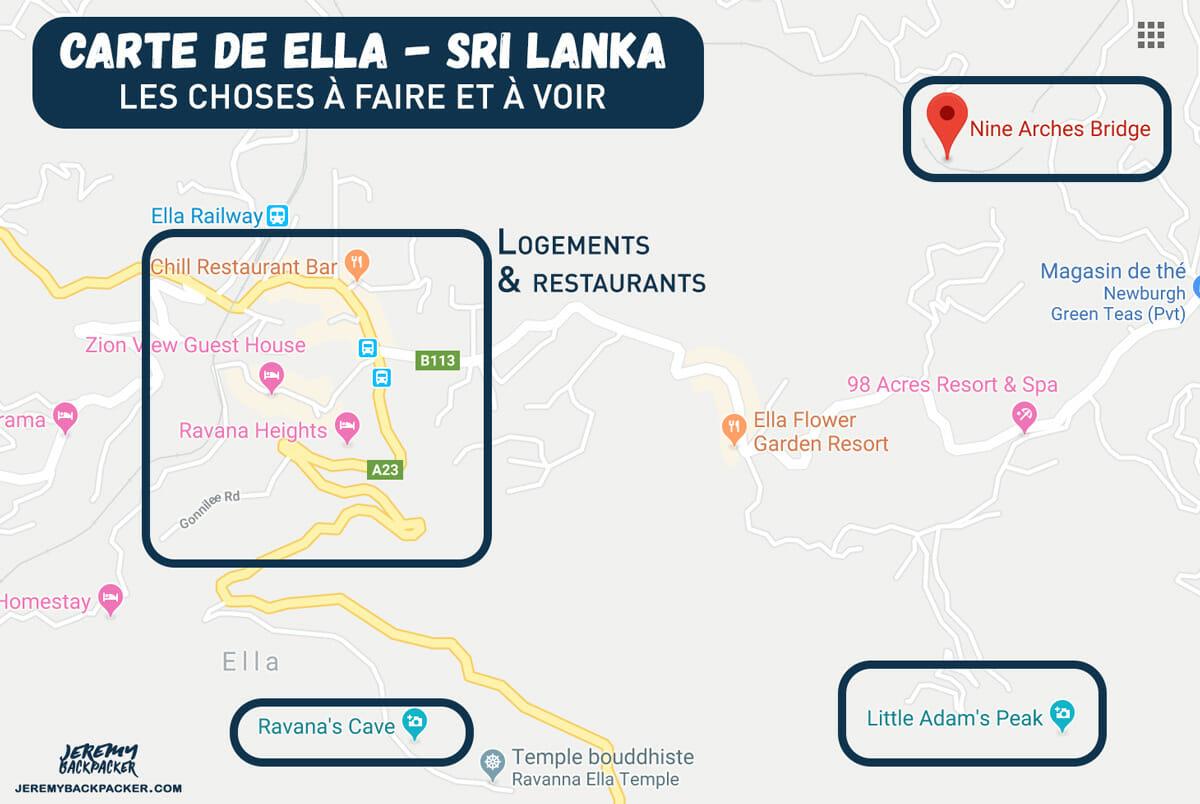 carte-ella-itineraire-sri-lanka