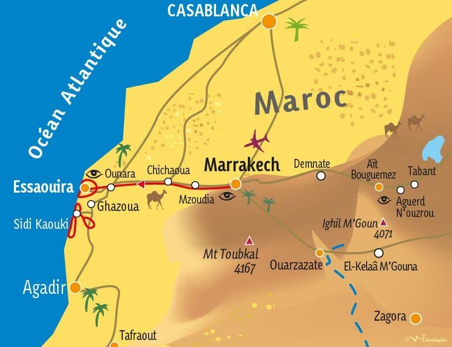carte essaouira maroc