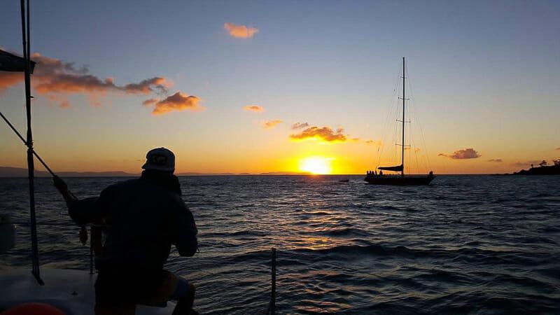 coucher de soleil whitsundays