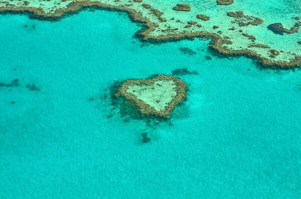 heart reef whitsundays survol