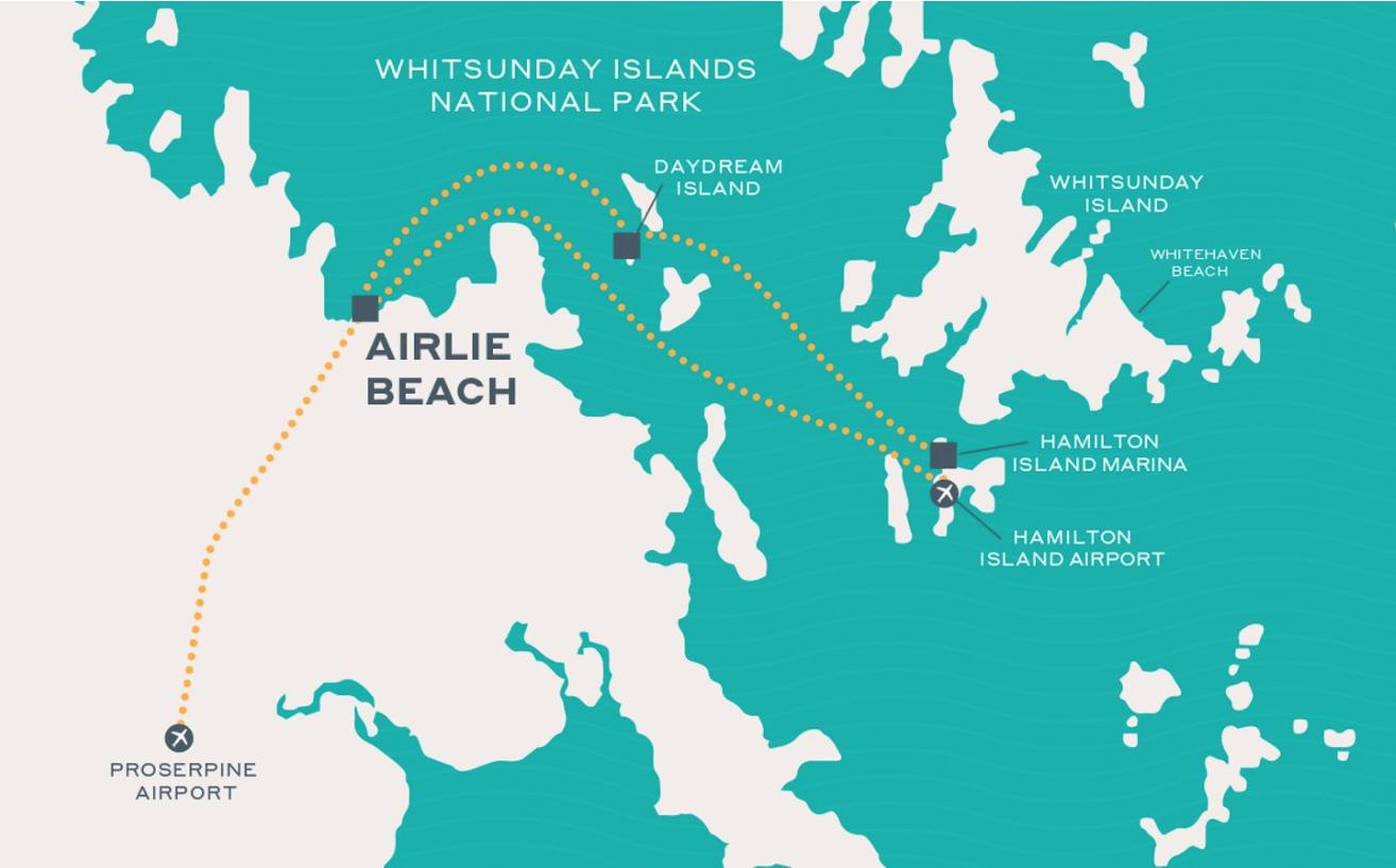 se rendre a airlie beach hamilton island whitsundays