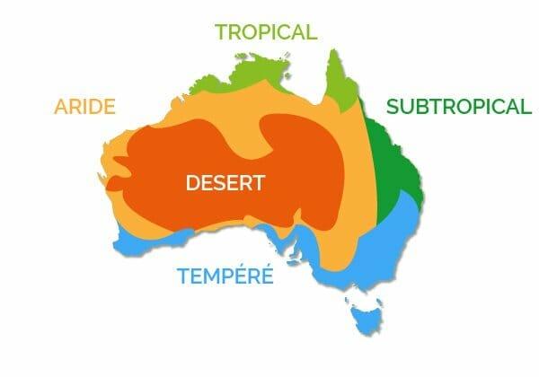 quand partir en australie climats
