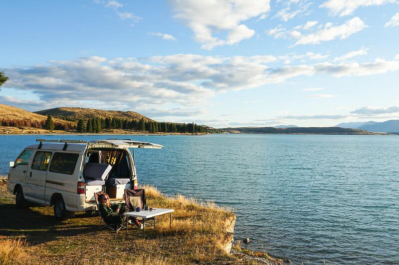 camping nouvelle zelande lac pukaki