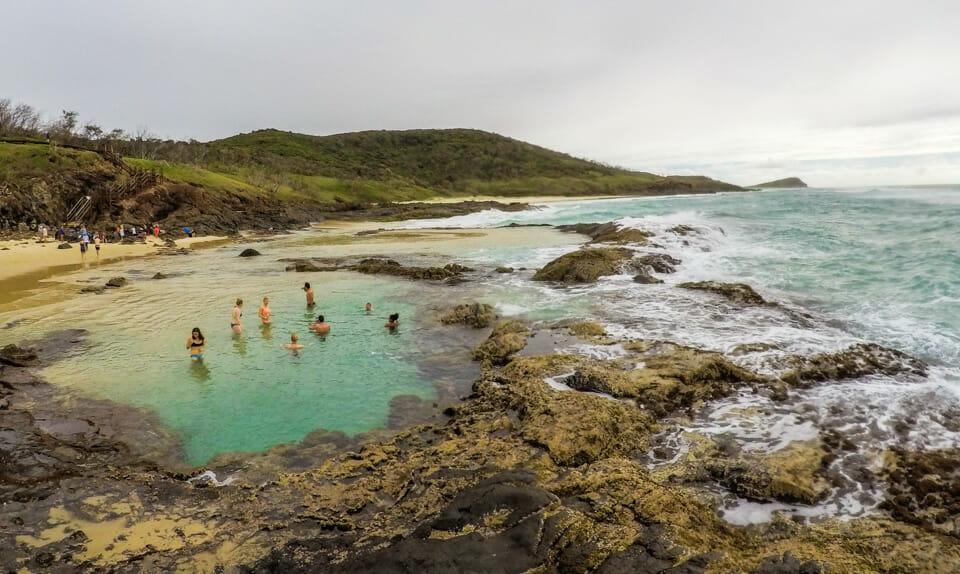 fraser island champagne pool