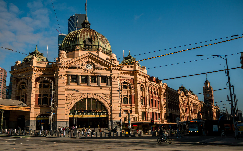 Flinders street station gare Melbourne