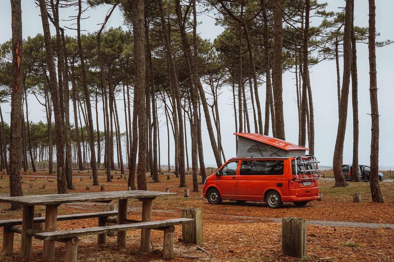 road trip cote ouest france van