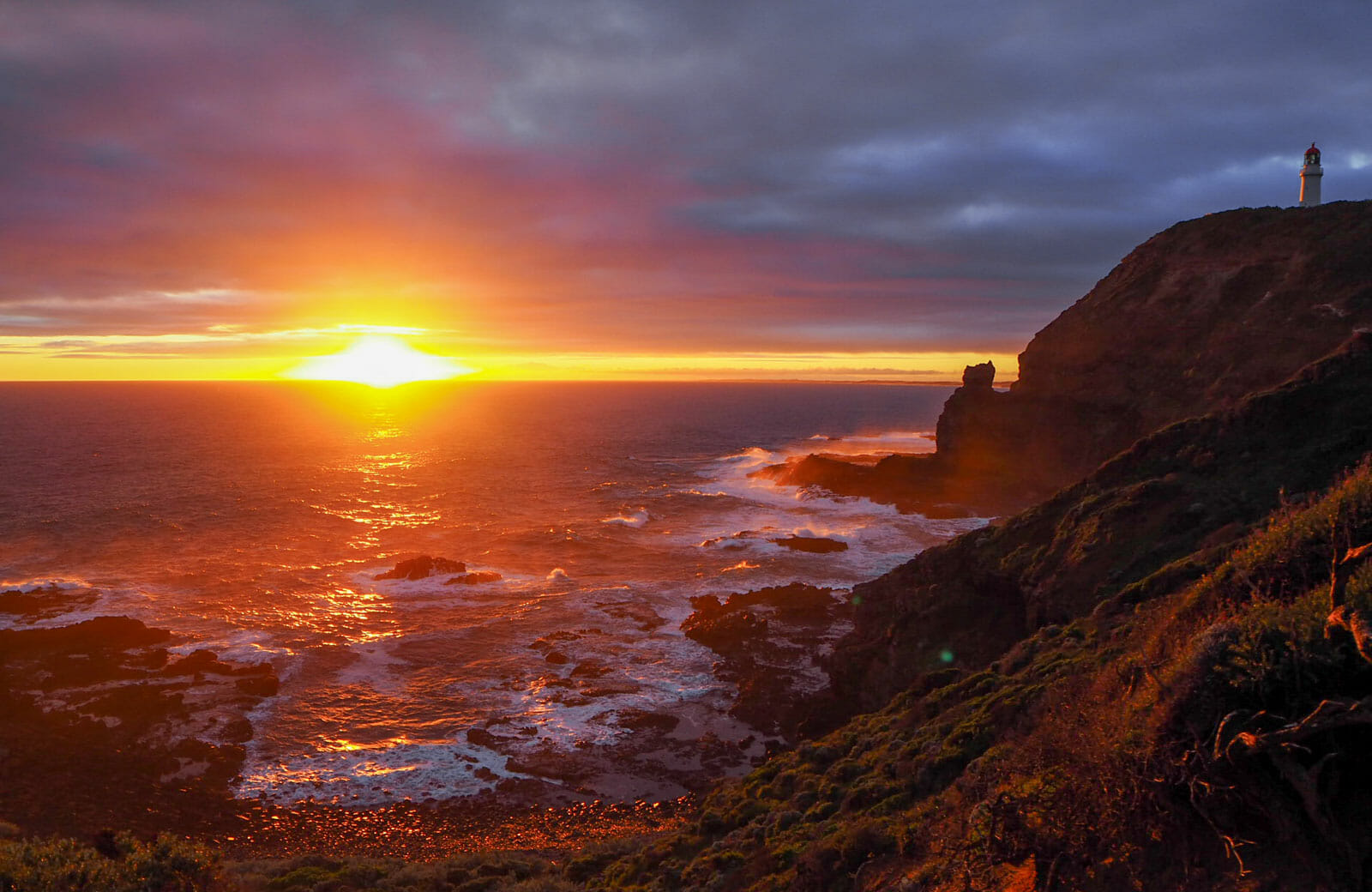 coucher de soleil cap shanck mornington