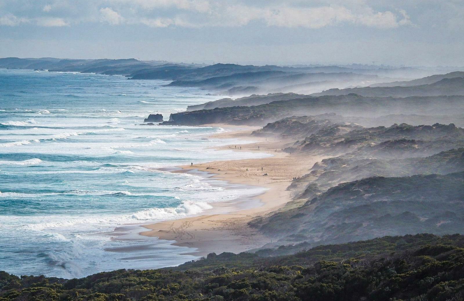 peninsule mornington visiter Gunamatta Beach